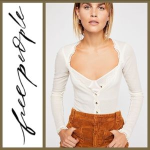 NWT! [ Free People ] Keep It Simple Lace Top Large